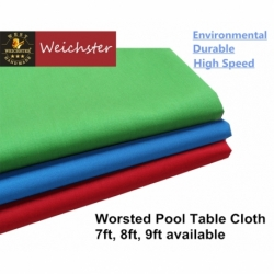 Weichster Nice Worsted Pool Table Cloth 6ft 7ft 8ft 9ft Table High Speed Billiard Cloth Felt