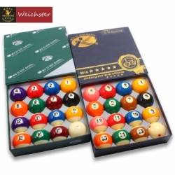 "Billiard Pool Balls Set Tournament Quality Green Box/Black Box Number Ball Set 16 Balls 2-1/4"" 2-1/16"""